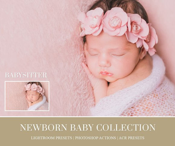 Essential newborn photoshop actions actions creative market