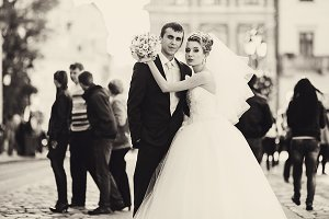 Stunning just married couple