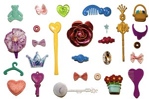 Flat lay Little Girl's Things