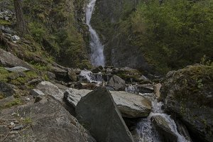 Small waterfall in Altai Mountains