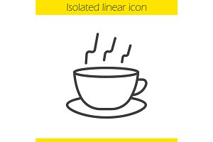 Steaming cup icon. Vector