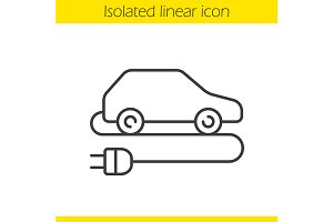 Electric car icon. Vector