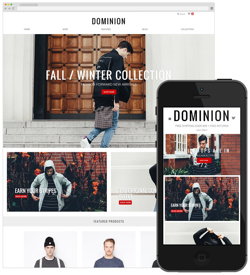 Dominion big cartel theme themes creative market for Big cartel themes templates free