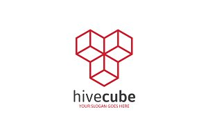 Letter T or Y Hive Cube Logo