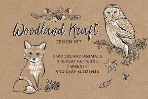 Woodland Kraft Design Set