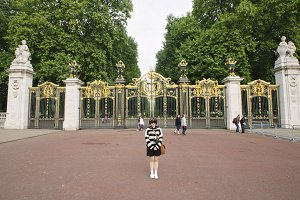 Girl in front of Australia Gate