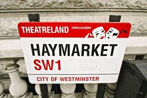 Haymarket Street Sign