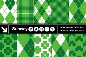 Vector St Patrick's Lucky Patterns