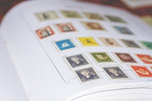 Postage stamp collection