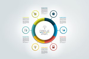 Circle infographic chart