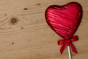Valentine's heart lollipop