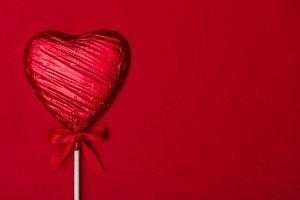 Valentine's heart lollipop