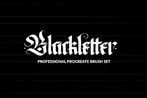 Pro Blackletter Procreate Brushes