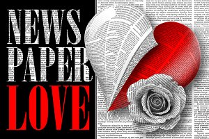 Romantic newspaper set for Your Love