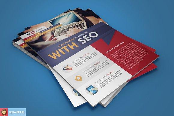 Flat Seo Flyer in Flyer Templates