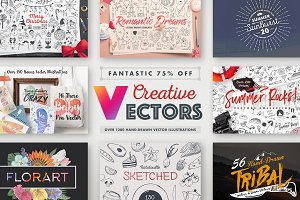 Creative Vectors Bundle 75% Off