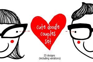 Doodle cute couples