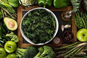 Making kale salad