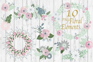 Floral Bouquet Clipart 50% Off