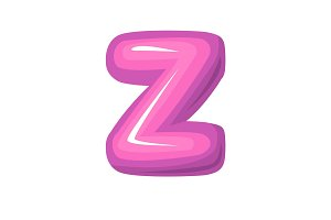 Pink letter z