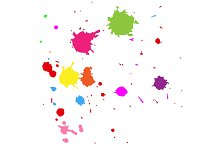 Realistic colourful blobs