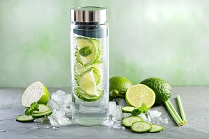 Infused detox water