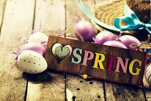 Spring or Easter Concept. Closeup.