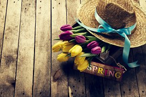Spring or Easter Concept. Horizontal
