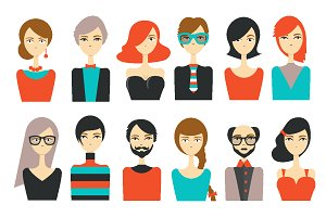 Avatar people modern icon