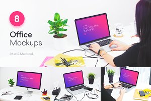 8 PSD Mockups Office