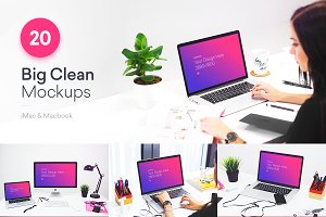 20 PSD Mockups Clean Office