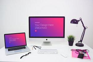 PSD Mockup iMac & Macbook