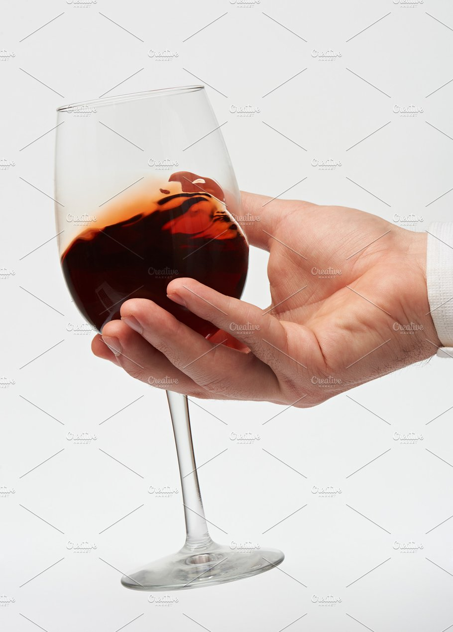 Hand hold red wine glass food drink photos creative market ccuart Gallery