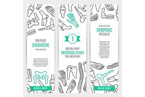 Medical banner template for orthopedics design
