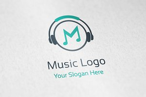 Music Headphone Logo