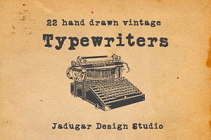 22-Vintage Typewriters