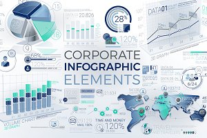 Blue-green Infographic Elements