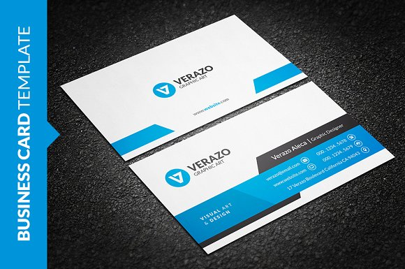 Modern corporate business card business card templates creative modern corporate business card business card templates creative market fbccfo Choice Image