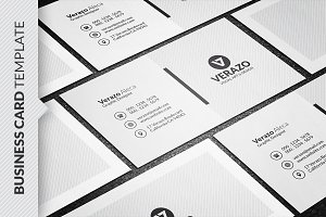 Clean Monochrome Business Card