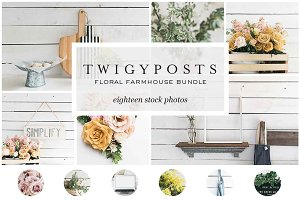 Floral Farmhouse Stock Photos