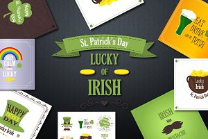 St. Patrick's Labels and Badges