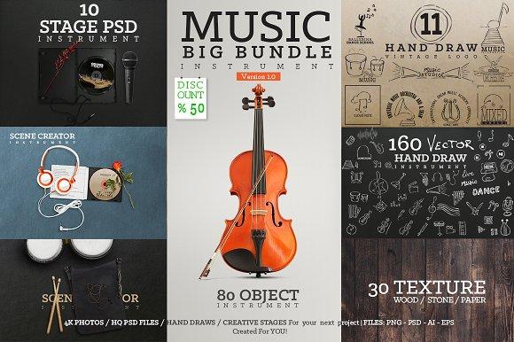 Music Big Bundle Instrument-Graphicriver中文最全的素材分享平台