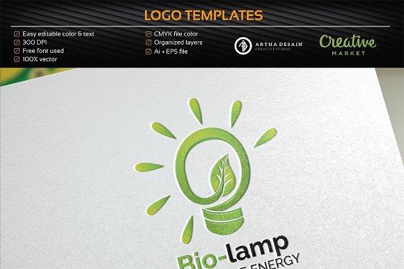 Bio Lamp / Energy - Logo Template
