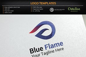 Blue Flame / Fire - Logo Template