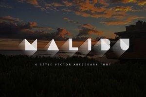 Malibu Vector Abecedary Font