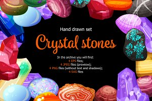 Crystal Stones Colorful Set