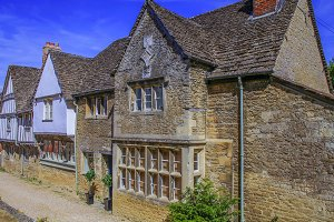 Medieval houses in Lacock village