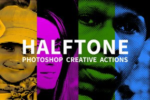 Color Halftone Photoshop Actions