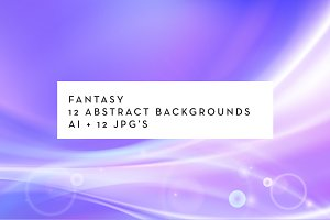 Fantasy: abstract curves backgrounds