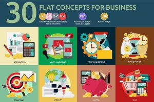 Flat Concept Business Marketing